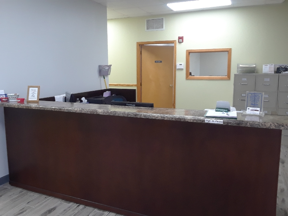 Front Desk in our Reception area